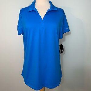 Nike Golf Dri-Fit blue polo NWT